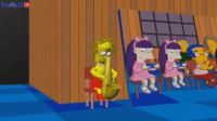 best couch gag ever: Really 3D best couch gag ever