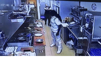 """CONCEALED CARRY WINS AGAIN!  Newly-released video (attached) from inside the George Webb restaurant at S. 21st and W. Mitchell St. shows an adult male go behind the counter to approach and punch a female manager/waitress in the face.  Alderman Bob Donovan, who obtained the video footage yesterday, said the incident took place last week. He said he hopes the public can help the Milwaukee Police Department locate the suspect as soon as possible.  """"It is sickening to see this unsuspecting worker assaulted so brutally by this individual,"""" said Alderman Donovan, chair of the Public Safety and Health Committee.  Alderman Donovan said MPD is actively seeking a known individual but also welcomes additional information from the community that might help the case.  """"It was an unprovoked attack and I am asking anyone with information to please contact MPD immediately at 414-935-7360 so we can get him off the street and behind bars where he belongs,"""" he said.  The video shows a George Webb co-worker pointing a firearm at the suspect to get him away from the victim. Alderman Donovan said the co-worker – who he was told has a concealed carry permit for the firearm – was successful in getting the suspect to leave the premises.  """"One can only imagine what might have occurred if that employee had not pulled out her weapon,"""" the alderman said. """"Sadly, I'm told the co-worker quit her job shortly after the incident.""""  """"And can you really blame her for quitting? This is just sickening and I am tired of this crap happening in my district and in too many other neighborhoods across Milwaukee,"""" he said.  Alderman Donovan said the victim is facing thousands of dollars in medical bills to treat her injuries and does not have insurance. """"This woman is struggling to just eek out a living and has this idiot attack her for no reason,"""" he said.  """"I am told the attacker has an extensive criminal record – surprise, surprise – another glaring indictment of our criminal justice system!"""" Alderman Donov"""