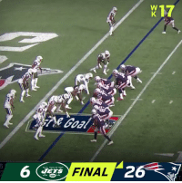 Memes, Patriotic, and 🤖: 17  6 G FINAL  26  ETS FINAL: @Patriots clinch the #1 seed in the AFC! #GoPats  #NYJvsNE https://t.co/nha3ILS5jF