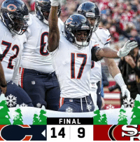 Memes, 🤖, and Final: 17  FINAL  14 9 FINAL: The @ChicagoBears improve to 11-4! #DaBears  #CHIvsSF https://t.co/F4HTcFXi8u