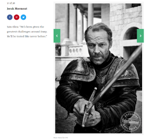 """Jorah has to chose between Friendzone or Friendzone.: 17 of 20  Jorah Mormont  Iain Glen: """"He's been given the  greatest challenges around D  He'll be tested like never before.""""  any.  CLU  Entertainment  Marc Hom for EW Jorah has to chose between Friendzone or Friendzone."""