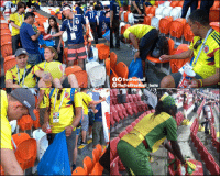 Memes, Trash, and Japan: 17  OO TrollFootball  The TrollFootball Insta Colombian, Japanese and Senegalese fans cleaned their trash before leaving the stadium.  Last #WorldCup Japan did it, this time Colombian and Senegalese fans joined them 👏🇯🇵🇨🇴🇸🇳 https://t.co/H6BNYeWCgX