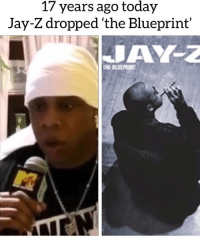 "Eminem, Jay, and Jay Z: 17 years ago today  Jay-Z dropped 'the Blueprint' Today marks the 17th anniversary of Jay Z "" The Blueprint "" The Blueprint had standout tracks like "" Renegade featuring Eminem , Song Cry "" & "" Takeover "" What were your favorite songs⁉️"
