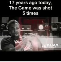 Friends, Memes, and The Game: 17 years ago today,  The Game was shot  5 times throwbackmonday Follow @bars for more ➡️ DM 5 FRIENDS