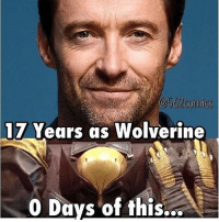 Memes, Wolverine, and Deadpool: 17 Years as Wolverine  Days of this...  A logan wolverine thewolverine wolverine3 oldmanlogan jameshowlett xforce weaponx adamantium claws deadpool mercwithamouth merc mercenary antihero spidey spiderman peterparker marvellegends marveluniverse marvel marvelcomics marvelheroes x23 comicart comics