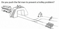 Do you push the fat man to prevent a trolley problem?
