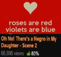 red: roses are red  violets are blue  Oh No! There's a Negro in My  Daughter Scene 2  66,896 views M  80%