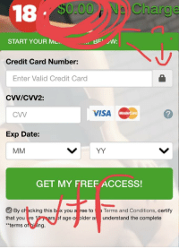 18 000na Charge Start Your Ml Credit Card Number Enter Valid Credit Card Cvvcvv2 Cw Visa Exp Date Get My Fref Access By Checking This B X You A Ree To That