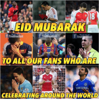 Memes, Racism, and Happy: 18  EID MUBARAK  R E A L  TrollFoothall  TrollFoothall  R EA L  TO ALLOURFANS WHOARE  Flu  uráres  CELEBRATINGAROUNDTHEWORLED Happy Eid Mubarak 😱  Say No To Racism 🙏