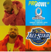 Logic, Memes, and National Hockey League (NHL): 18  PRO BOWL  ORLANDO, FL  SUNDAY JANUARY 28TH  CAMPING WORLD STADIUM  @nhl ref logic  ALSTAR  2018 Both happening at the same time in Florida, but all the cool kids are in Tampa