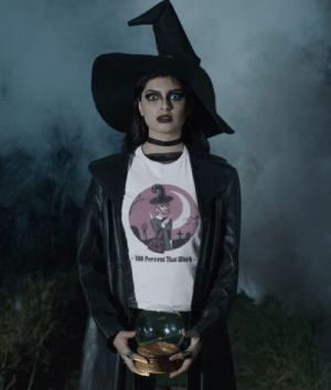 womens-tshirts:  100 Percent That Witch Graphic T-Shirt: -180 Percent That Ditch- womens-tshirts:  100 Percent That Witch Graphic T-Shirt