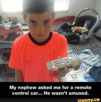 LOL Mexicans be like: Its the same thing!: My nephew asked me for a remote  control car... He wasn't amused.  ifunny.CO LOL Mexicans be like: Its the same thing!
