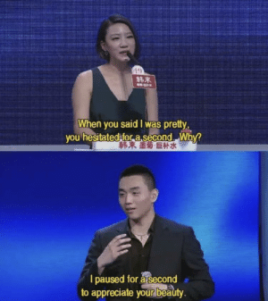 Wow got me right in the feels via /r/wholesomememes https://ift.tt/31JgtwT: 19  韩束  When you said I was pretty,  you hesitated for asecond Why?  韩束墨菊巨补水  I paused for a second  to appreciate your beauty. Wow got me right in the feels via /r/wholesomememes https://ift.tt/31JgtwT