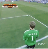 Memes, 🤖, and Eng: 19:27  GER  O  O  ENG  NEUER  WFV Fantastic assist by Neuer and good finish by Klose back in the 2010 World Cup 👏 - Follow us for more vids ✅