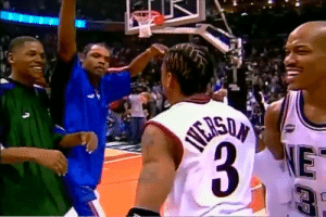 19 years ago today, Allen Iverson scored 15 PTS in the 4th quarter of the largest comeback in NBA All-Star game history.  The 2001 game is also known as one of the best All-Star games ever.    https://t.co/cfDQ6yOfxb: 19 years ago today, Allen Iverson scored 15 PTS in the 4th quarter of the largest comeback in NBA All-Star game history.  The 2001 game is also known as one of the best All-Star games ever.    https://t.co/cfDQ6yOfxb