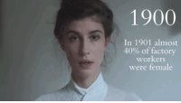 "Beautiful, Fashion, and Pop: 1900  In 1901 almost  40% of factory  workers  were female <p><a class=""tumblr_blog"" href=""http://makeuphall.tumblr.com/post/132844909119"">makeuphall</a>:</p> <blockquote> <p>We all saw lot`s of ""100 Years of Beauty"" videos  but they all have seemed to show beauty standards in a very stereotypical and pop-culture way, so Karolina Zebrowska wanted to do a more historically accurate one. <br/></p> <p>As she was doing some research, she became more and more aware that beautiful faces and fashion we see on the photos, ads and fashion plates are just an idealistic version of reality. <a href=""http://www.iknowhair.com/the-women-those-evolution-of-beauty-videos-leave-out/""><b>So here's to reality. <br/></b></a></p> <p><a href=""http://www.iknowhair.com/the-women-those-evolution-of-beauty-videos-leave-out/""><b>Watch:</b> Beauty Through The Decades The Realistic Way</a><br/></p> </blockquote>"
