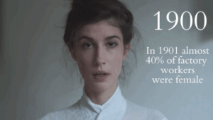 "Beautiful, Fashion, and Pop: 1900  In 1901 almost  40% of factory  workers  were female makeuphall:  We all saw lot`s of ""100 Years of Beauty"" videos  but they all have seemed to show beauty standards in a very stereotypical and pop-culture way, so Karolina Zebrowska wanted to do a more historically accurate one.  As she was doing some research, she became more and more aware that beautiful faces and fashion we see on the photos, ads and fashion plates are just an idealistic version of reality. So here's to reality.  Watch: Beauty Through The Decades The Realistic Way"