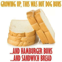 Growing Up Mexican: GROWING UP THIS WASHOT DOG BUNS  AND HAMBURGER BUNS  AND SANDWICH BREAD