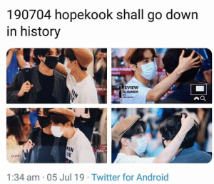 #BTS 🐾: 190704 hopekook shall go down  in history  PREVIEW  GLIMMER  8TS  FOR JHOPE  WAN  DE  CUPID  1:34 am 05 Jul 19. Twitter for Android  NAN #BTS 🐾