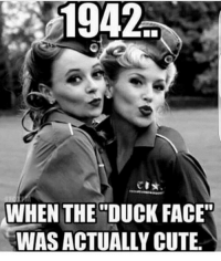 "ohmybushes: 1942  WHEN THE DUCK FACE""  WAS ACTUALLY CUTE. ohmybushes"