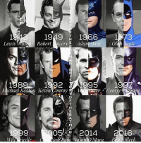 """Batman, Instagram, and Joker: 1949 1966 1 73  Lewis Robert  ery  E Adam West  Ol  oule  1592  99  Michael Keaton Kevi  onroy  R  George  OO  2014  2016  Wil N iedle ian Bate Gason O'Mara Ben Affleck Good Knight Gothamites! Tomorrow we will conclude """"The ABC's of The Joker"""" with letters Y and Z! I leave you tonight with a repost of one of my favorite account edits showcasing a (not complete) history of the actors who have portrayed the Batman in live action and animated film and television: Lewis Wilson, the first man to play Batman on the big screen in the 1943 black and white serial """"Batman""""; Robert Lowery, playing the Caped Crusader in 1949's """"Batman and Robin""""; Adam West playing Batman in the live action tv series and film """"Batman"""" from 1966 to 1968; Olan Soule, voicing Batman in The Batman - Superman Hour in 1968, Superfriends in 1973 and many animated series in the early 1980s; Michael Keaton in Tim Burton's film """"Batman"""" (1989) and """"Batman Returns"""" (1992); Kevin Conroy voicing Batman in the tv show """"Batman: The Animated Series"""" (1992); Val Kilmer @ValKilmerOfficial in Joel Schumacher's live action film """"Batman Foever"""" (1995); George Clooney in Schumacher's """"Batman and Robin"""" (1997); Will Friedle voicing Terry McGinnis' Batman in the """"Batman Beyond"""" tv series (1999); Christian Bale plays Batman in Christopher Nolan's The Dark Knight film trilogy - """"Batman Begins"""" (2005), """"The Dark Knight"""" (2008) and """"The Dark Knight Rises"""" (2012); Jason O'Mara @JasonOMaraOfficial voicing the current Batman in the DC Animated Movies such as """"Son of Batman"""" and """"Justice League: War"""" (2014); Ben Affleck is our current live action cinematic Batman, seen in Zack Snyder's """"Batman v Superman: Dawn of Justice"""" and """"Suicide Squad"""" (2016) with """"Justice League"""" upcoming in November 2017! Who has been your favorite Batman? As always, thanks for following and all of the constant support on and off of Instagram, it is greatly appreciated! Have a great night and we will have more History of t"""