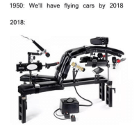 Cars, Club, and Tumblr: 1950: We'll have flying cars by 2018  2018 laughoutloud-club:  Technological Achievement !