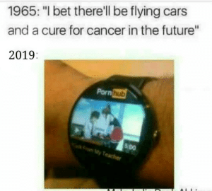 "Back to the Future, Cars, and Future: 1965: ""I bet there'll be flying cars  and a cure for cancer in the future""  2019:  Pornhub  5 Do  My Back to the Future via /r/memes https://ift.tt/2EgN4QD"