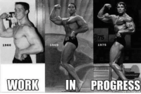 Gym, Memes, and Work: 1969  1975  1960  WORK  IN PROGRESS Strong transformation.  Gym Memes