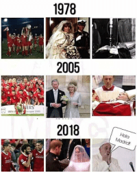 Memes, Pope Francis, and 🤖: 1978  2005  RS  league 2005  UEFA  2018  Hala  Madrid The Pope is in real trouble! 😂💀