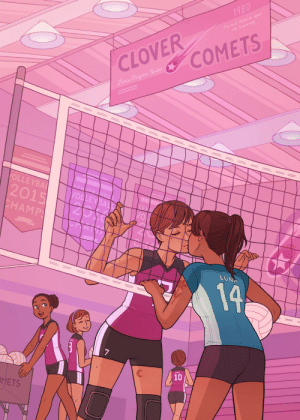 eunnieboo:sneaking a kiss before the match ✨ my piece for game on! a wlw sports zine!: 1980  The end depends upon  the beginning  COMETS  CLOVER  Fimia Origine Pandet  OLLEYBAL  SENIOR CIRLS  VOLLEY BALL  2015  CHAMPS  120  VO  LUNA  19  7  10  OMETS eunnieboo:sneaking a kiss before the match ✨ my piece for game on! a wlw sports zine!