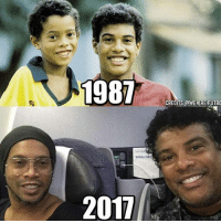 Ronaldinho and his brother 🔥 Double Tap❤️: 1987  Safety  2017  CREDITS aWE ARE FUTBO Ronaldinho and his brother 🔥 Double Tap❤️