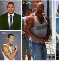 Dwayne the Rock Johnson Then and Now  Open Full Picture here :: 1993  2003  Now Dwayne the Rock Johnson Then and Now  Open Full Picture here :