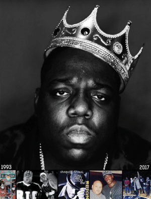 "#RIPBIG 22 years ago today, the world lost ""the greatest rapper of all-time"": The Notorious B.I.G.    #BiggieSmalls' NBA History: https://t.co/J7f2qdAz8G https://t.co/FAjEEYULhD: 1993  2017  shAquillE OneAL  2 #RIPBIG 22 years ago today, the world lost ""the greatest rapper of all-time"": The Notorious B.I.G.    #BiggieSmalls' NBA History: https://t.co/J7f2qdAz8G https://t.co/FAjEEYULhD"