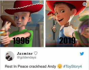 Crackhead, Pinterest, and Peace: 1996  20  Jasmine ▽  @gcldendays  Rest In Peace crackhead Andy  𝘍𝘰𝘭𝘭𝘰𝘸 𝘮𝘺 𝘗𝘪𝘯𝘵𝘦𝘳𝘦𝘴𝘵! → 𝘤𝘩𝘦𝘳𝘳𝘺𝘩𝘢𝘪𝘳𝘦𝘥