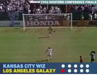 Finals, Funny, and Honda: 1996 WESTERN cONFERENCE FINALS  HONDA.  KANSAS CITY WIZ  LOS ANGELES GALAXY What the hell is this!? 😂😂😂