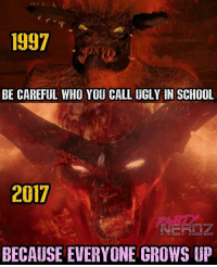 Memes, Movies, and Nerd: 1997  1997  BE CAREFUL WHO YOU CALL UGLY IN SCHOOL  2017  BECAUSE EVERYONE GROWS UP SURTUR looks PERFECT!! CGI has come a long way since MALEBOLGIA in SPAWN! . . . sdcc sdcc2017 . . thor raiden hela Marvel movies cosplayers drax starlord netflix malebolgia lukecage negan comingsoon cosplayer blackpanther cosplay nerd infinitywar Thanos geekgirl partynerdz deadpool spiderman spawn guardiansofthegalaxy defenders