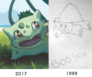 copperbadge:  earthbison: My most recent Bulbasaur vs my first when I was 6 years old xD I love the 2017 bulbasaur, he's gorgeous and the shading and color work is amazing, but honestly my first instinct was REBLOG FOR BOBSOR : 1999  2017 copperbadge:  earthbison: My most recent Bulbasaur vs my first when I was 6 years old xD I love the 2017 bulbasaur, he's gorgeous and the shading and color work is amazing, but honestly my first instinct was REBLOG FOR BOBSOR