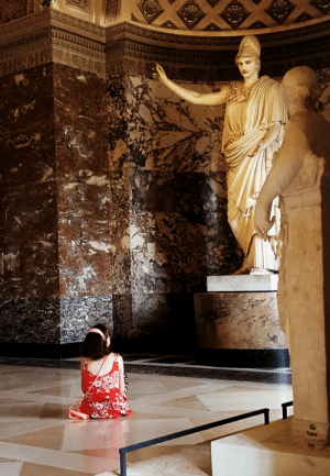 Girls, Saw, and Tumblr: 1AH  nd imfemalewarrior: will-o-the-witch:  imfemalewarrior:  newtonscamader: Throwback to last year at the Louvre when I saw a little girl sitting on the ground looking up to the statue of the goddess Athena. Probably the most Renaissance-like and powerful picture I ever took.  I think lots of little girls go through a phase where they are enamored with Ancient Greek Goddesses because they are powerful and inspiring.  Can someone edit the Fibonacci spiral over this picture?  -FemaleWarrior, She/They   @imfemalewarrior Here you go!  EXCELLENT  -FemaleWarrior, She/They