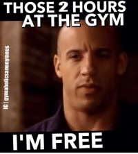1G1 gymaholicsanonymous  THOSE 2 HOURS  AT THE GYM  I'M FREE Fuck stress. Bench press.