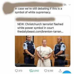 EEEEEEEEEEEEEEEEEEEEEEEEEEEE At least the people on Tumblr said it's just the 'OK' sign.: 1h v  In case we're still debating if this is a  symbol of white supremacy.  NEW: Christchurch terrorist flashed  white power symbol in court  thedailybeast.com/brenton-tarran...  L73,042  373  8,180 EEEEEEEEEEEEEEEEEEEEEEEEEEEE At least the people on Tumblr said it's just the 'OK' sign.