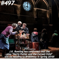 """QOTD: Do you think you'd see CursedChild in London or in NYC sooner? 🏙⚡️ . Follow me @forevermaddy_ @hpfashion934 !: 1H49Z  ACTS  J.K. Rowling has confirmed that the  play """"Harry Potter and the Cursed Child""""  will be heading to Broadway in Spring 2018! QOTD: Do you think you'd see CursedChild in London or in NYC sooner? 🏙⚡️ . Follow me @forevermaddy_ @hpfashion934 !"""