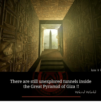 pyramids of giza: 1INN 1  There are still unexplored tunnels inside  the Great Pyramid of Giza  Weird World