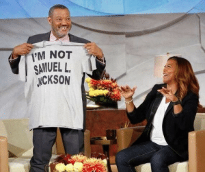 Morgan Freeman is such a funny guy: 1'M NOT  SAVUEL L.  ICKSON Morgan Freeman is such a funny guy