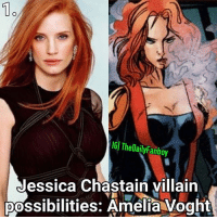 Gonna try to keep this short. Jessica Chastain will be in Dark Phoenix, most likely the villain, so here are 5 possibilities I came up with. If there's any you can think of please feel free to suggest them below. 1. Amelia Voght Powers: Ability to transform any matter within eyesight including herself into mist and transport that mist across the astral plane. 2. Julia Carpenter also known as Arachne Powers: similar to Spider-man but before you ask they got away with Madame Hydra in Wolverine so there's a way to do the same here. 3. Tamara Kurtz also known as Dragoness Powers: Ability to generate pyrotechnic flares. 4. Thornn Powers: She has a feline appearance along with feline capabilities. 5. Madelyne Pryor Powers: The clone of Jean Grey so similar powers to Jean Grey. PS There's a way I'd use each in the film but that would've taken up too much space in the caption so it wasn't included. xmen marvel xman mutant mutants marvelcomics comics mcu darkphoenix jessicachastain villain supervillain newmutants xforce professorX jeangrey fancast 2018 comicbooks comicbook: 1o  IGI TheDailyFanboy  Jessica Chastain villairn  possibilities: Amelia Voght Gonna try to keep this short. Jessica Chastain will be in Dark Phoenix, most likely the villain, so here are 5 possibilities I came up with. If there's any you can think of please feel free to suggest them below. 1. Amelia Voght Powers: Ability to transform any matter within eyesight including herself into mist and transport that mist across the astral plane. 2. Julia Carpenter also known as Arachne Powers: similar to Spider-man but before you ask they got away with Madame Hydra in Wolverine so there's a way to do the same here. 3. Tamara Kurtz also known as Dragoness Powers: Ability to generate pyrotechnic flares. 4. Thornn Powers: She has a feline appearance along with feline capabilities. 5. Madelyne Pryor Powers: The clone of Jean Grey so similar powers to Jean Grey. PS There's a way I'd use each in the film but that would've taken up too much space in the caption so it wasn't included. xmen marvel xman mutant mutants marvelcomics comics mcu darkphoenix jessicachastain villain supervillain newmutants xforce professorX jeangrey fancast 2018 comicbooks comicbook