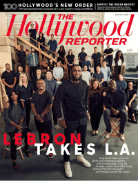 LeBron James on the cover of the new issue of The Hollywood Reporter (@THR)  https://t.co/QGfn2f152B https://t.co/4eXJseOAQ6: 1OOHOLLYWwoOD  THR ranks entertainment's most powerful in a year rocked by mergers and #MeTO。  Gala glam and postgame analysis as Netflix,  HBO and Amazon soar amid a ratings tailspin  THE  September 19, 2018  REPORTER  LeBron James  center) with his  SpringHill and  Uninterrupted  teams on the  Warner Bros.  lot in Burbank  LEBRON  TAKES L.A.  King James steps up as one  of the town's hottest producers  star of a new Space Jam and  oh yeah, a Laker, as he talks Trump,  Serena (I feel that struggle)  and finding 'projects that matter LeBron James on the cover of the new issue of The Hollywood Reporter (@THR)  https://t.co/QGfn2f152B https://t.co/4eXJseOAQ6