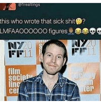 Memes, 🤖, and  Johnsons: @1realtings  this who wrote that sick shit  LMFAAOOOOOO figures  11.  EE  film  $0Cie  juer In case you wondered who was responsible for the strange thing about the Johnsons