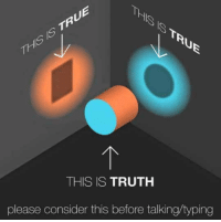 Truth, Story, and This: 1S  Thil  THIS IS TRUTH  please consider this before talking/typing <p>There Are Often Two Sides To The Story.</p>