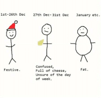 tag someone - ur friends: 1st- 26th Dec 27th Dec 31st Dec January etc.  Confused  Festive.  Fat  Full of cheese,  Unsure of the day  of week. tag someone - ur friends