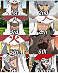 Memes, Naruto, and 🤖: 1st  2nd  3rd  4th  Oouad.narato  5th  6th Comment down who's your favorite Hokage👇 _ 》 follow @is.naruto for more 《