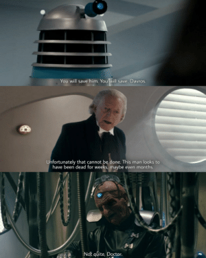 1st Doctor casually calling Davros as ugly as a month old dead body.: 1st Doctor casually calling Davros as ugly as a month old dead body.